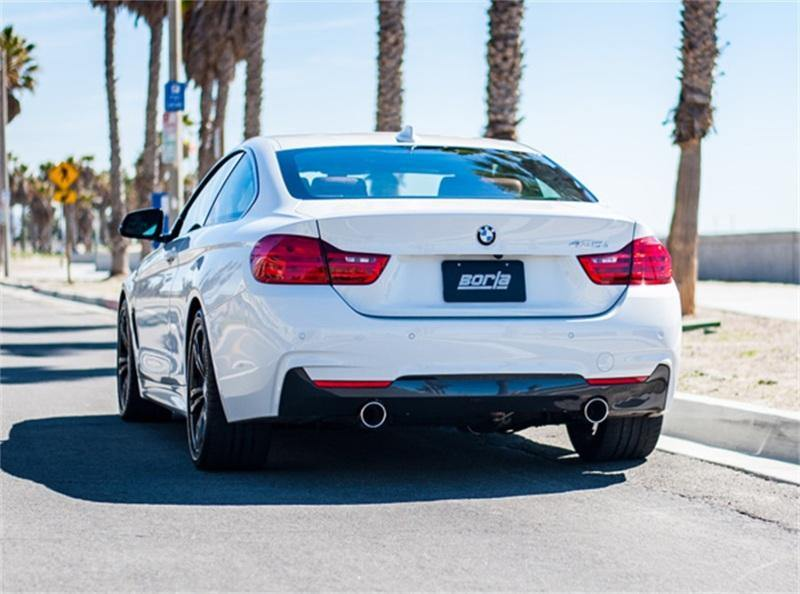 Borla 12-16 BMW 335i / 435i S Type Cat back SS 3.5in Tip Single Rolled - MGC Suspensions