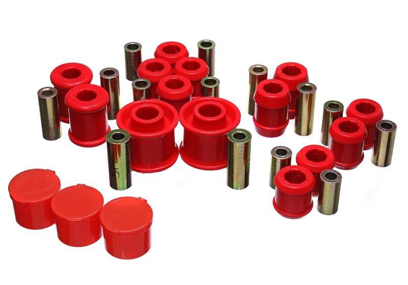 Energy Suspension 12-16 VW Passat / 07-16 VW EOS (1F) Rear Control Arm Bushing Set - Red - MGC Suspensions