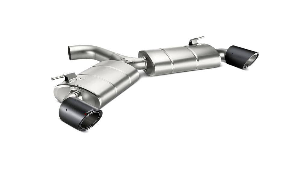 Akrapovic 2017+ Volkswagen Golf GTI (MK7) Slip-On Line Titanium Exhaust System with Carbon Fiber Tips - MGC Suspensions