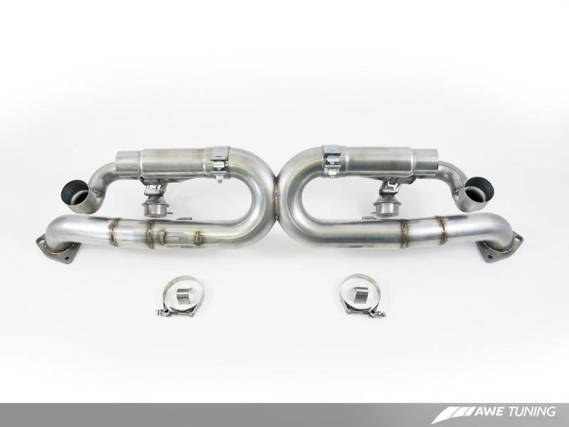 AWE Tuning Porsche 991 SwitchPath Exhaust for Non-PSE Cars Diamond Black Tips - MGC Suspensions