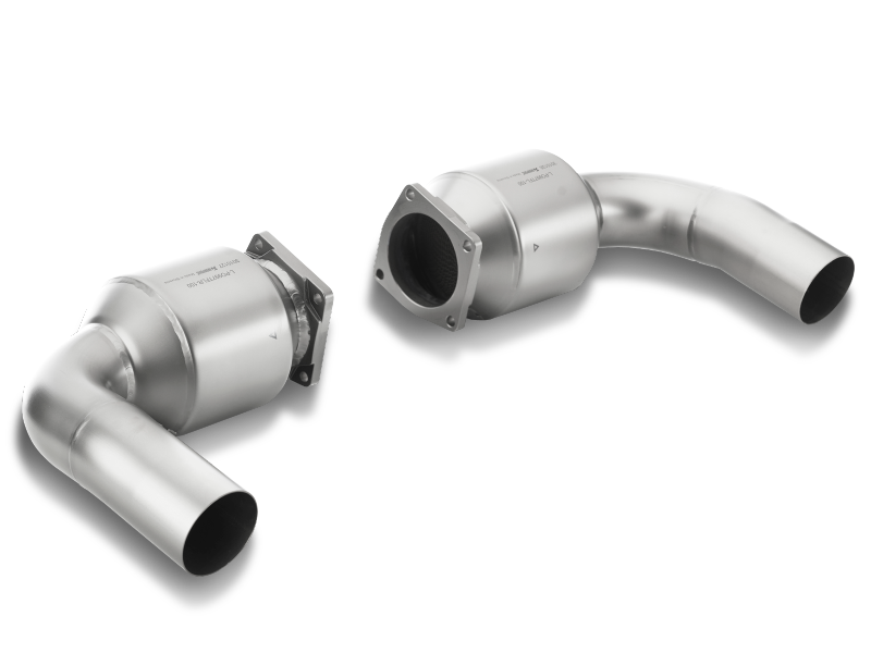 Akrapovic 2010-13 Porsche 911 Turbo/Turbo S (997) Titanium Link Pipe Set w/ Cats - MGC Suspensions