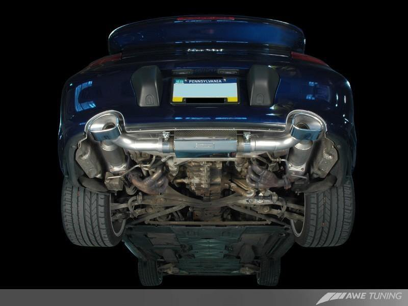 AWE Tuning Porsche 996TT/GT2 Performance Exhaust - w/200 Cell Cats - MGC Suspensions