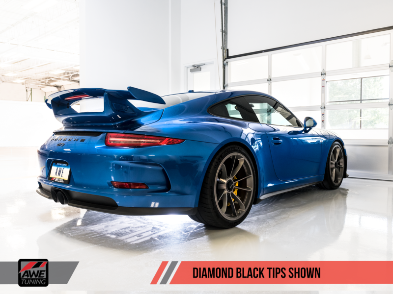 AWE Tuning Porsche 991 GT3 / RS Center Muffler Delete - Diamond Black Tips - MGC Suspensions