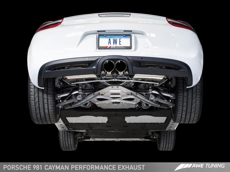 AWE Tuning Porsche 981 Performance Exhaust System - w/Diamond Black Tips - MGC Suspensions