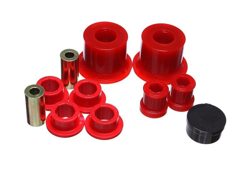 Energy Suspension 05-14 VW Jetta (Base) / 06-09 VW GTI Front Control Arm Bushing Set - Red - MGC Suspensions