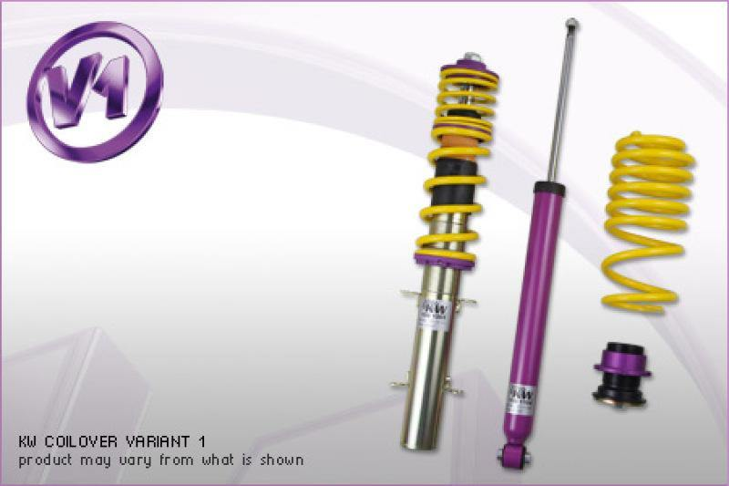 KW Coilover Kit V1 Audi A4 (8E/B6 8H QB6) Avant + Convertible; Quattro; all engines - MGC Suspensions