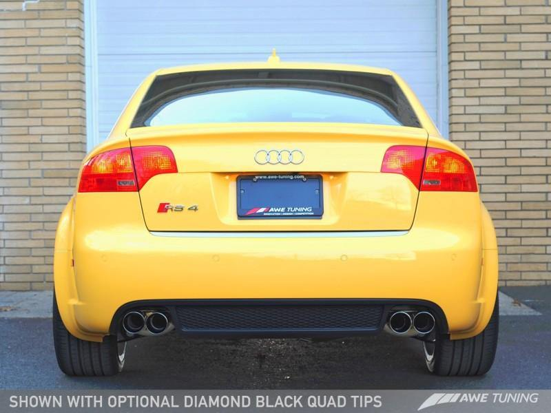 AWE Tuning Audi B7 RS4 Track Edition Exhaust - Diamond Black Tips - MGC Suspensions