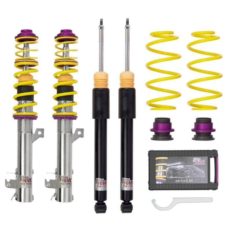 KW Coilover Kit V1 Audi A3 (8P) FWD all engines w/o electronic dampening control - MGC Suspensions