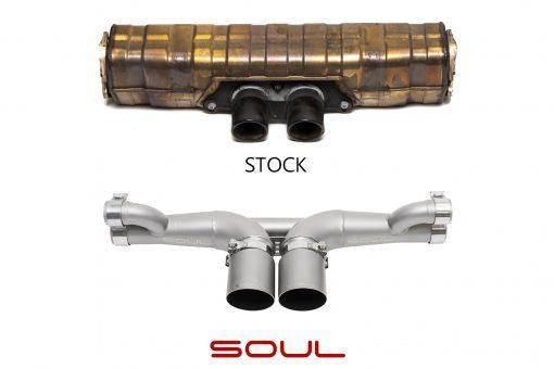 SOUL Performance Porsche 991 GT3 / 911R Center Muffler Bypass Exhaust - MGC Suspensions