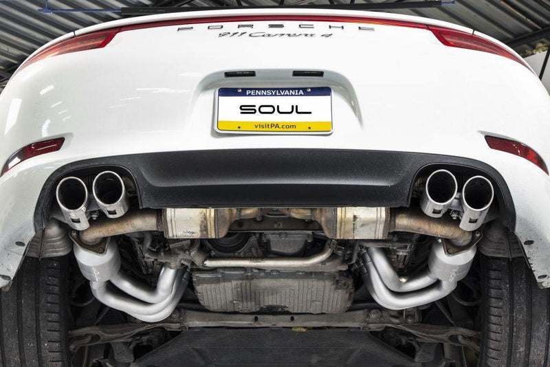 SOUL Performance 2012-16 Porsche 991.1 Carrera Long Tube Street Headers - MGC Suspensions