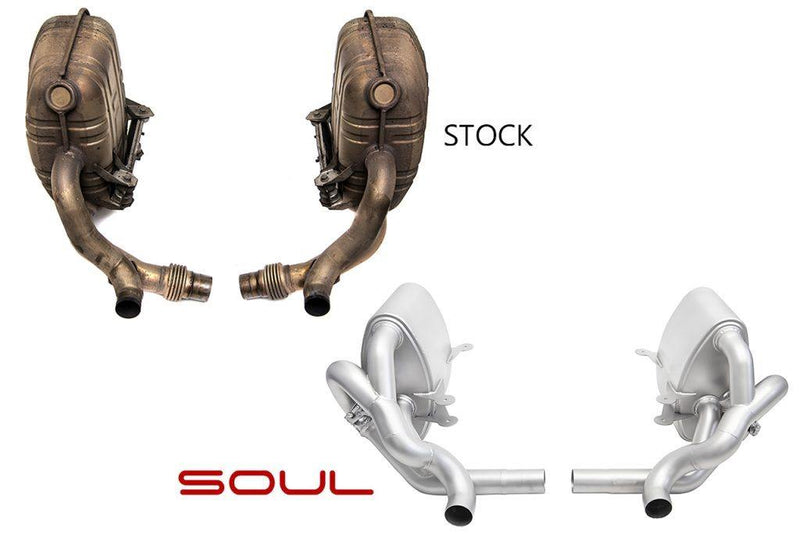 SOUL Performance Porsche 997.1 Carrera Valved Exhaust System - MGC Suspensions