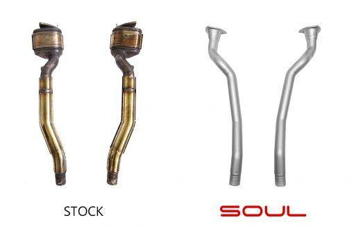 SOUL Performance Ferrari FF / GTC4 Lusso V12 Competition Down Pipes-SOUL Performance-MGC Suspensions
