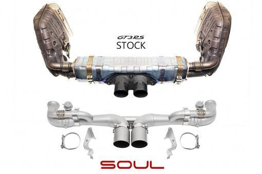 SOUL Performance Porsche 991 GT3 or 911R Modular Competition Exhaust Package - MGC Suspensions