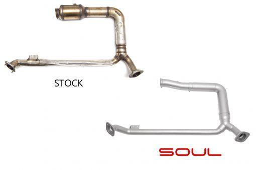 SOUL Performance 2017+ Porsche 718 Boxster or Cayman Competition Down Pipe.(Fits All Models). - MGC Suspensions