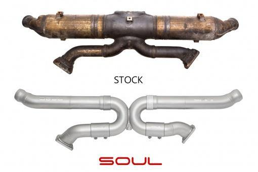 SOUL Performance 1995-98 Porsche 993 Carrera Catalytic Converter Bypass X-Pipe - MGC Suspensions