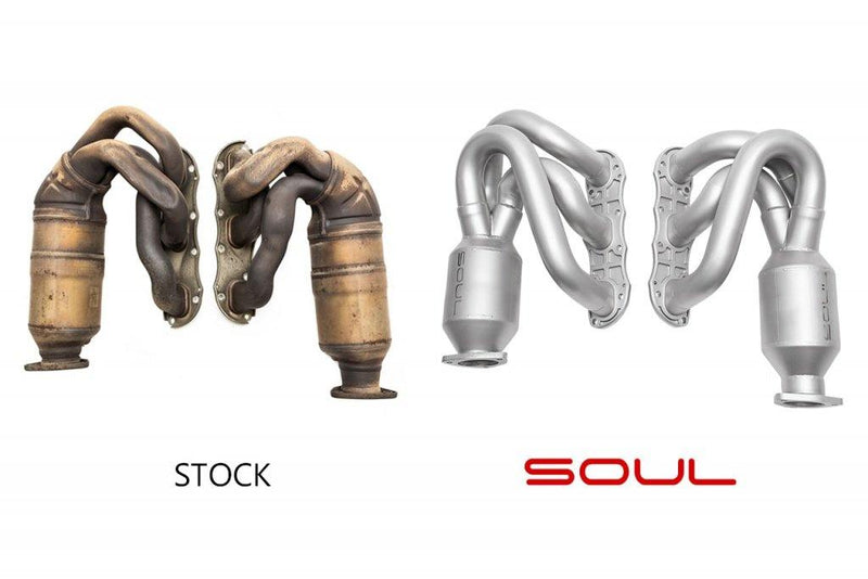 SOUL Performance 2009-11 Porsche 997.2 Carrera Long Tube Street Headers - MGC Suspensions