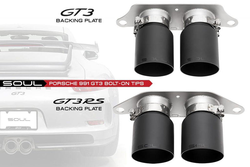 SOUL Performance Porsche 991 GT3 Bolt-On Exhaust Tips - MGC Suspensions
