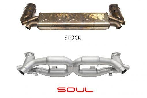 SOUL Performance 2013+ Porsche 991 Turbo Competition X-Pipe Exhaust System - MGC Suspensions