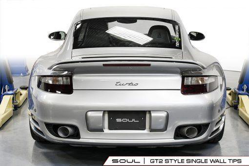 SOUL Performance Porsche 997.1 Turbo Competition X-Pipe Exhaust System - MGC Suspensions