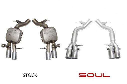 SOUL Performance 2011-16 BMW F10 M5 Resonated Muffler Bypass Exhaust - MGC Suspensions
