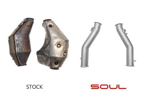 SOUL Performance 2004-08 Lamborghini Gallardo Cat Bypass Pipes - MGC Suspensions
