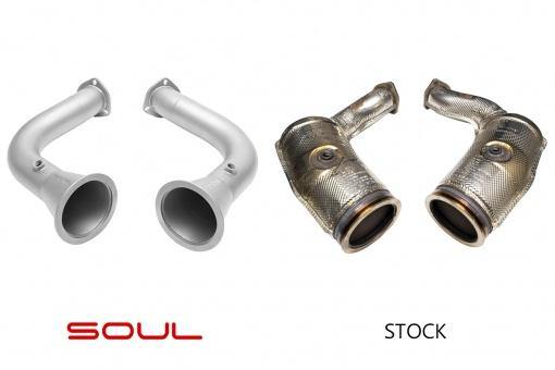 SOUL Performance Audi RS Q8 Cat Bypass Pipes - MGC Suspensions