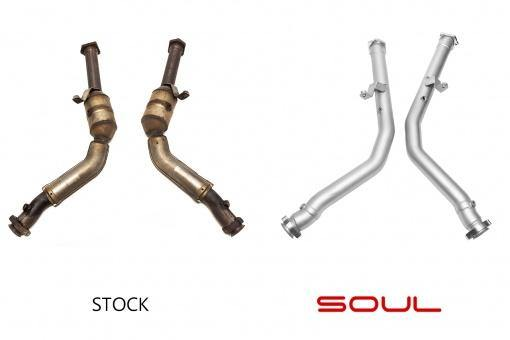 SOUL Performance 2012-18 Mercedes-Benz  G-Wagen Competition Down Pipes - MGC Suspensions