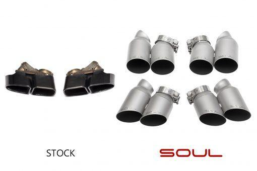 SOUL Performance Porsche 991 Turbo Bolt On Exhaust Tips - MGC Suspensions
