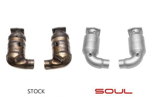 SOUL Performance Porsche 991 Turbo 200 Cell High Flow Catalytic Converters - MGC Suspensions
