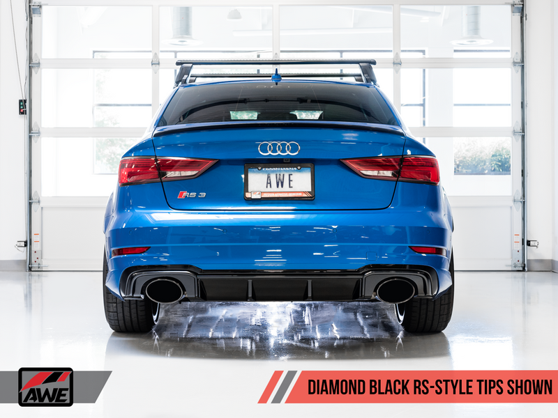 AWE Tuning 2017-19 Audi RS3 SwitchPath Exhaust with Diamond Black RS Style Tips-MGC Suspensions