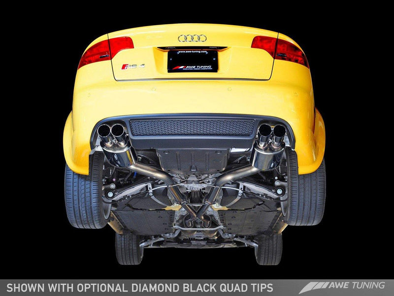 AWE Tuning 2007-08 Audi RS4 (B7) Track Edition Exhaust System with Diamond Black Tips-MGC Suspensions