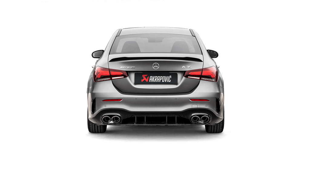 Akrapovic 2019+ Mercedes-Benz A35 AMG Sedan (W177) Slip-On Line Titanium Exhaust System with Titanium Tips - MGC Suspensions