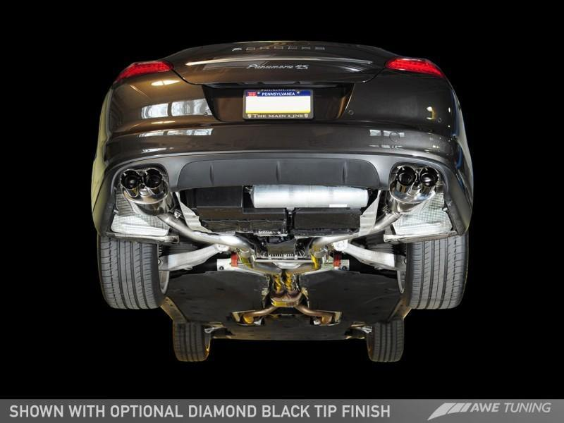 AWE Tuning Porsche Panamera S/4S Touring Edition Exhaust System - Diamond Black Tips - MGC Suspensions