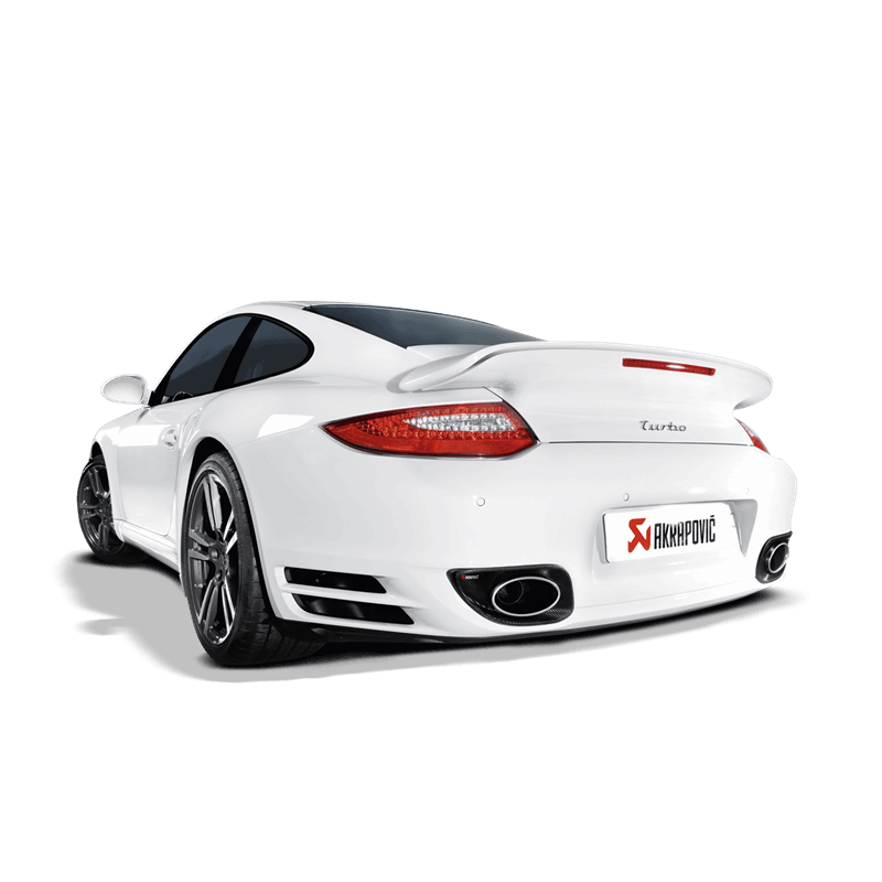 Akrapovic 2010-13 Porsche 911 Turbo / Turbo S (997) Slip-On Line (Titanium) w/ Titanium Tips - MGC Suspensions