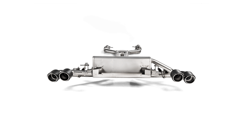 Akrapovic 2017-19 Alfa Romeo Giulia Quadrifoglio Evolution Line Titanium Cat Back Exhaust System. Tips Not Included - MGC Suspensions