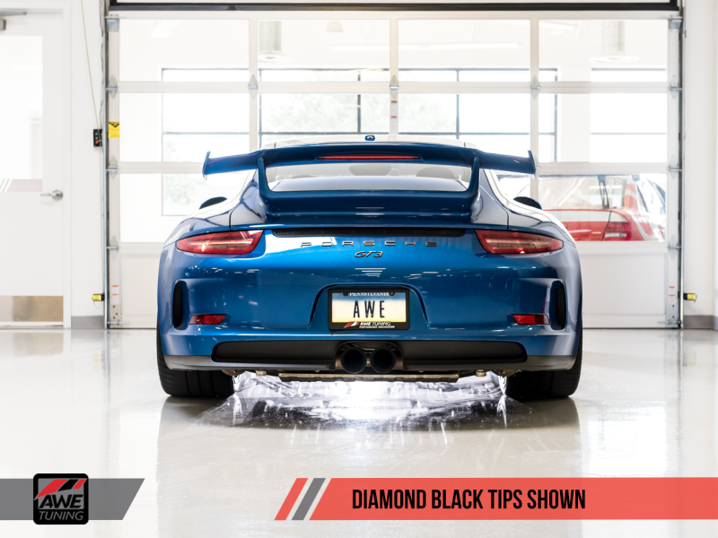 AWE Tuning Porsche 991 GT3 / RS SwitchPath Exhaust - Diamond Black Tips - MGC Suspensions