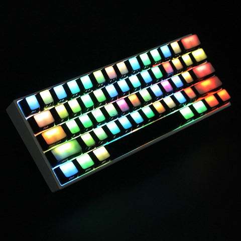 104 Key Side Printed Keycaps  All-Transparent ABS RGB Machanical Keyboard