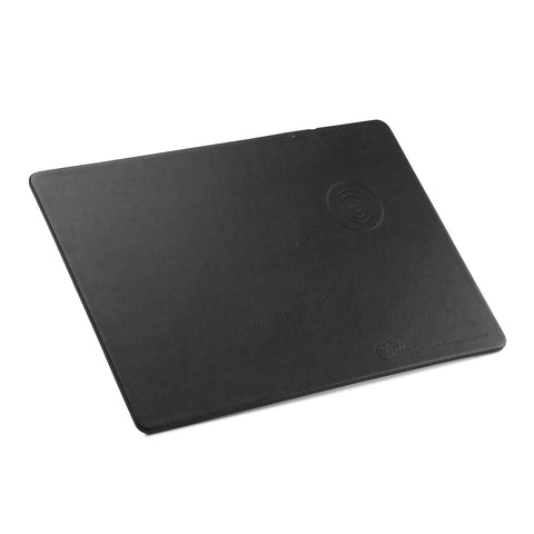 Leather Mouse Pad With Built in QI Wireless Charger