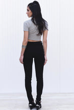 BLACK HIGH RISE SKINNY DENIM JEANS