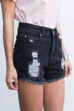 """YOU ARE FREE"" HIGH WAISTED DISTRESSED DENIM SHORTS"