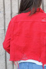 LOVELY - Red Denim Jacket