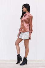 Satin Long Sleeve Bow Shirt