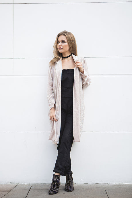 LOYAL - VELVET LONG BLAZER