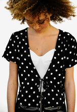 FAITHFUL - POLKADOT TIE-FRONT BLOUSE