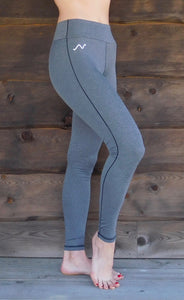 Nickers Performance Riding Leggings, Full-Length, Heather Grey