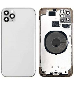 IPHONE 11PRO MAX BACK HOUSING WITHOUT PARTS WHITE