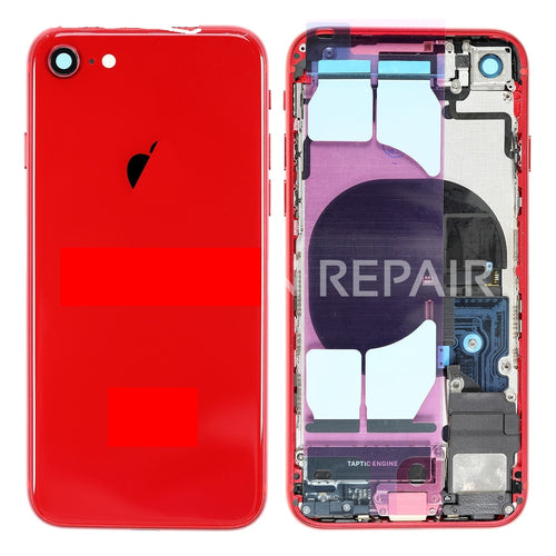 IPHONE 8G BACK HOUSING WITH SMALL PARTS RED
