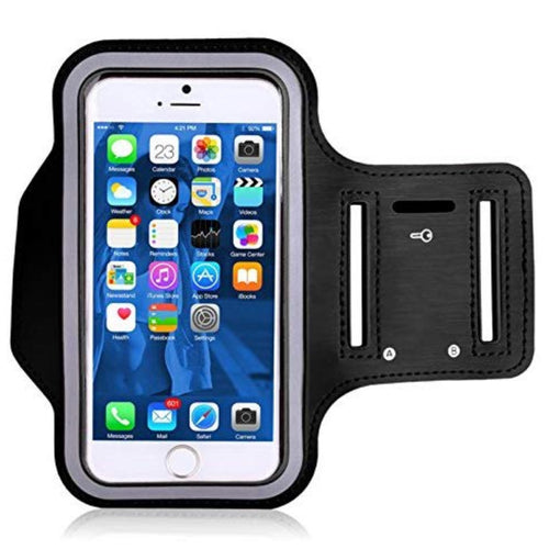 Sweatproof running sports phone armband with key holder