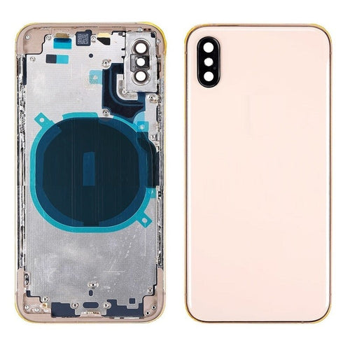 IPHONE XS BACK HOUSING WITHOUT PARTS GOLD (HIGH QUALITY)