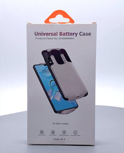 Universal battery case 5000 mah for Type-C 8X-8
